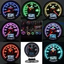 GReddi Medidor de aumento de Turbo para coche, pantalla Digital LCD múltiple de 7 colores, turbina de carreras, medidor de temperatura de agua y aceite, 62mm, 2,5 pulgadas