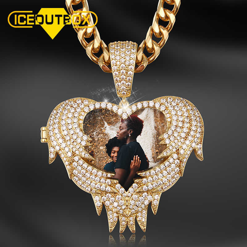 Personalized Custome Photo Pendant Necklace New Design Heart Fashion Hip Hop Custom Jewelry For Men Customized Jewelry Drop Ship