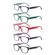 Turezing 5 conjuntos de óculos de leitura dobradiças de mola, quadro de alta qualidade para unissex e leitores coloridos diopter + 0.5 + 0.75 + 1.0 + 1.5 ..