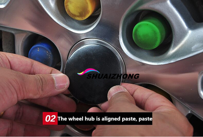 Image 5 - 4pcs 65mm Car Wheel Center Hub Cap Logo Sticker Decal Badge Emblem For Renault Opel Saab JP HRE Mini Alpina Car Styling Stickers-in Car Stickers from Automobiles & Motorcycles