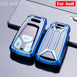 New TPU Car Key Case Cover Shell For AUDI A4 B9 Q5 Q7 TT TTS 8S 2016 2017 Car Smart Remote Car Styling Accessories Keychain