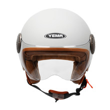 YEMA Half Helmets 3/4 Crash helmet Moto safety helmet for adults motorcycle riding Cycling road ski electric scooter helmet