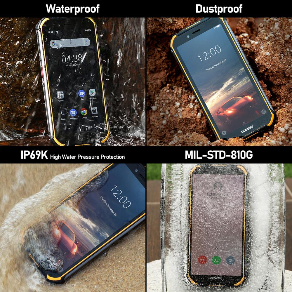 Real IP68 DOOGEE S40 Lite Quad Core 2GB 16GB Android 9.0 Rugged Phone Mobile Phone 5.5inch Display 4650mAh 8.0MP Fingerprint