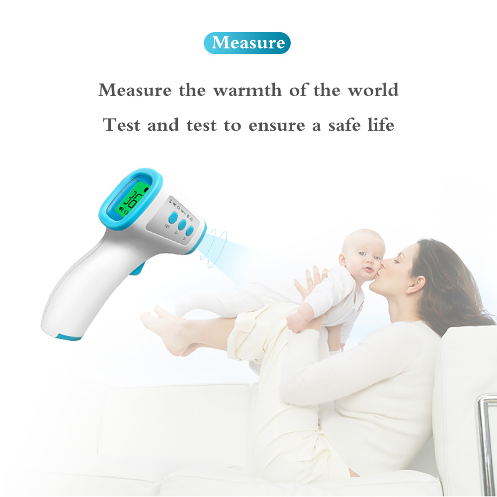 Non-contact Body Thermometer Detector Temperature Gun Forehead Digital Infrared Thermometer Baby Adult Temperature