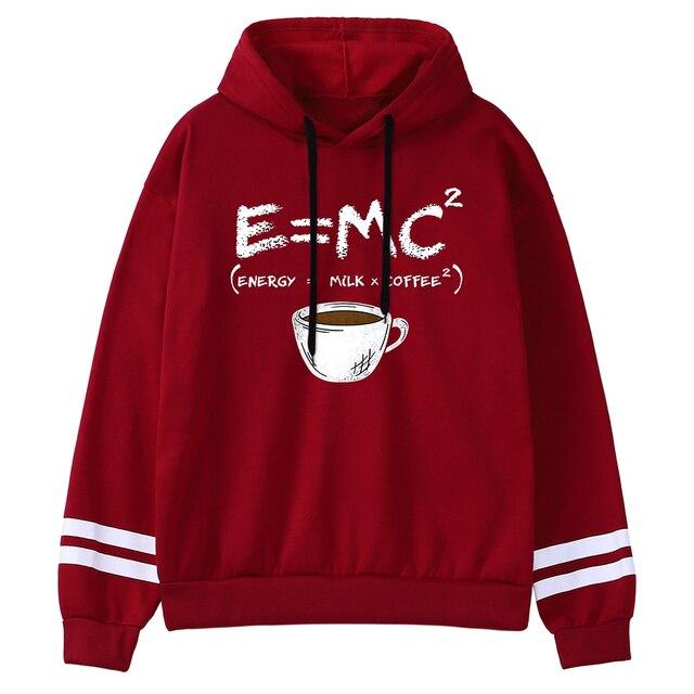 Hoodies E=Mc Coffee Personality Print Hoody For Women Harajuku Aesthetic Hoodie Warm Womens Fleece Oversized Sweatshirt Female 4