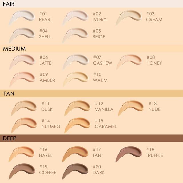 FOCALLURE Convermax Full Coverage Foundation Oil Control Face Makeup 20 Colors Matte Liquid Base Foundation 5