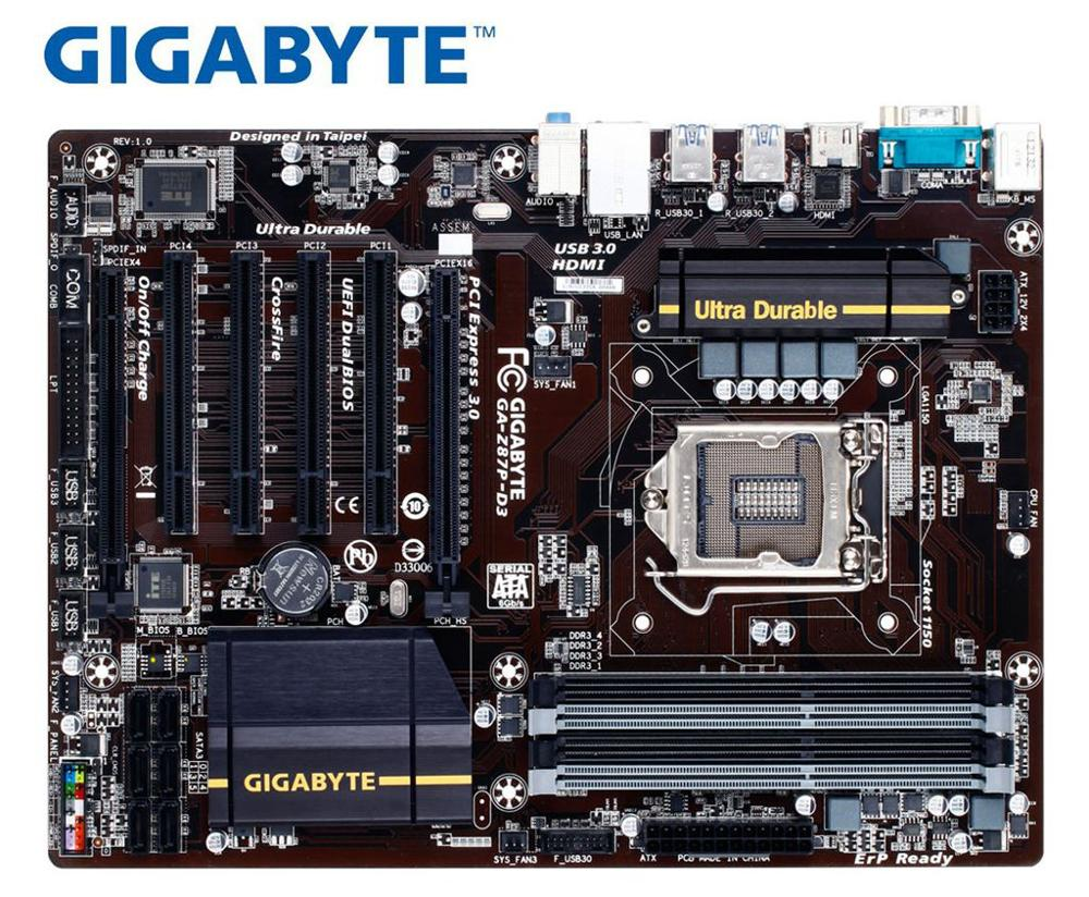 Gigabyte GA-Z87P-D3 Motherboard DDR3 LGA 1150 32GB Z87P-D3 For I3 I5 I7 22nm Z87 Used Desktop Motherborad Boards On Sales