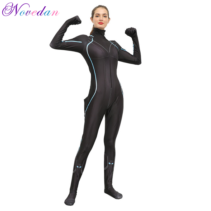 Cosplay Costume Black Widow Jumpsuit Halloween Movie Avengers Party Adult Tights Female