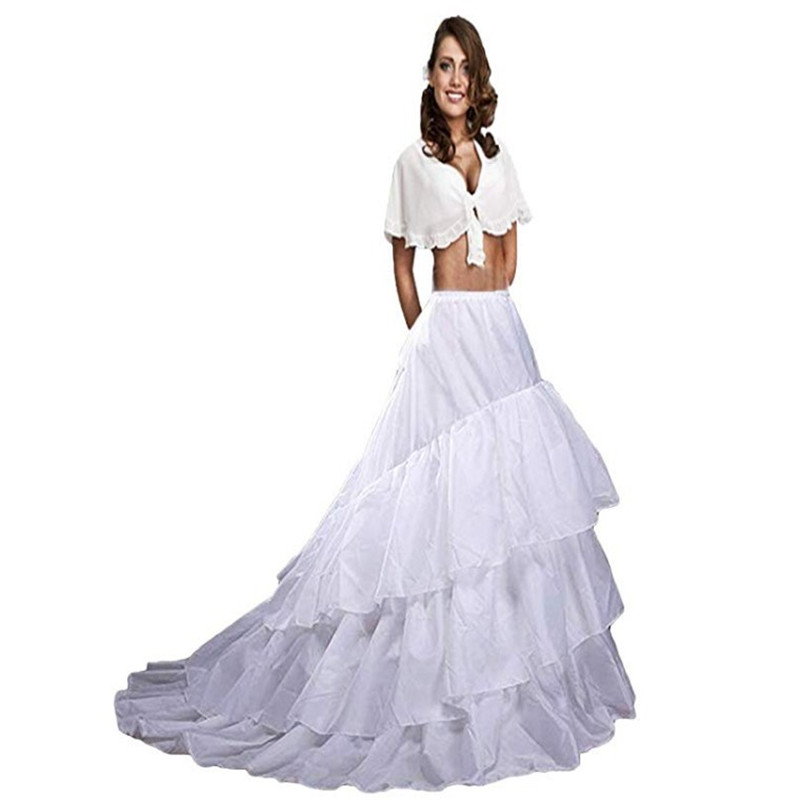 White Top Quality New Arrival Mesh Crinnolines Three Layers Bridal Women's A-line Underskirts For Dresses Petticoat Sexy
