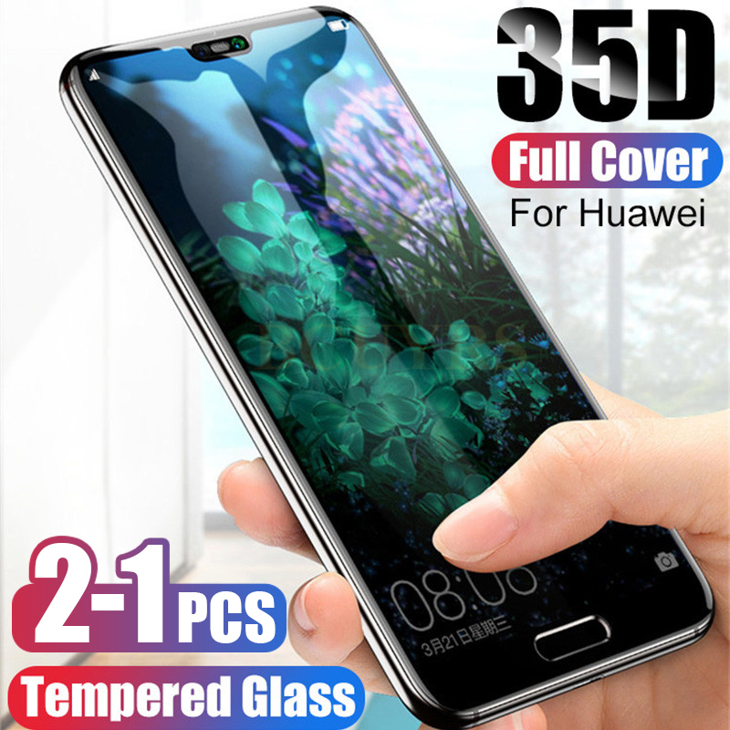Protective Tempered Glass For Huawei P20 P30 P10 P40 Lite Pro Screen Protector For Huawei Mate20 Lite Glass For P Smart 2019(China)