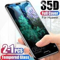 Protector de cristal templado para Huawei, Protector de vidrio templado para Huawei P20 P30 P10 P40 Lite Pro,Mate20 Lite, P Smart 2019