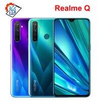 Original Realme Q Mobile Phone 6.3 Full Screen 4GB RAM 64GB ROM Snapdragon 712 AIE Android 9.0 48.0MP Four Cameras Smartphone