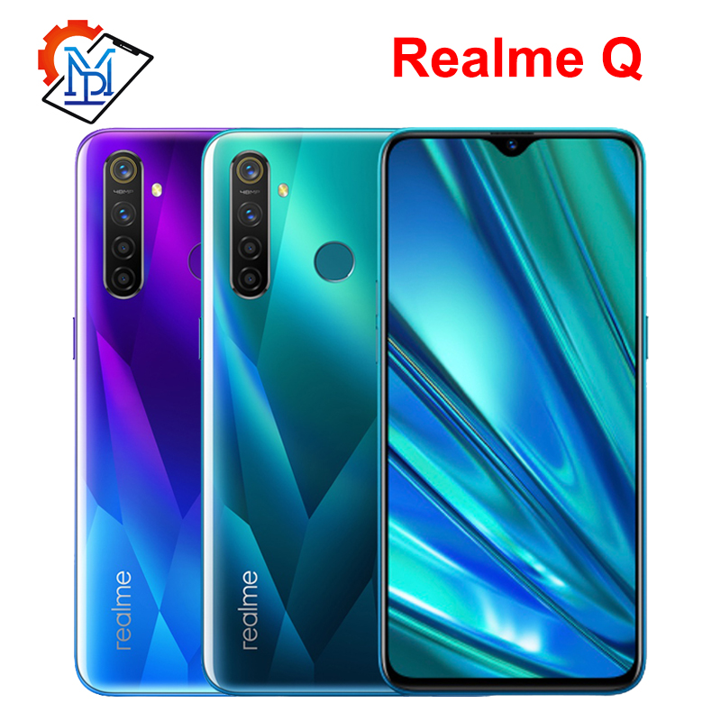 "Realme Q Mobile Phone 6.3"" Full Screen 4GB RAM 64GB ROM Snapdragon 712 AIE Android 9.0 48.0MP Four Cameras Smartphone"