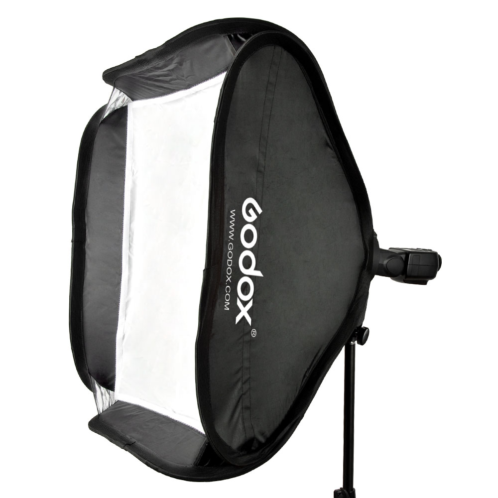 Godox 40 * 40cm / 15 * 15 Softbox Diffuser with S-type Bracket Bowens Holder for Speedlite Flash Light image
