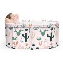 Baignoire pliante pour adultes et enfants, seau de bain en PVC, Portable, épaississement cylindrique, piscine pour adultes et enfants, 2021