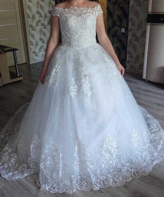 Real vedio luxo rendas apliques plus size vestido de casamento bordado 2021 novo longo trem querida vestido noiva vestidos de noiva 5