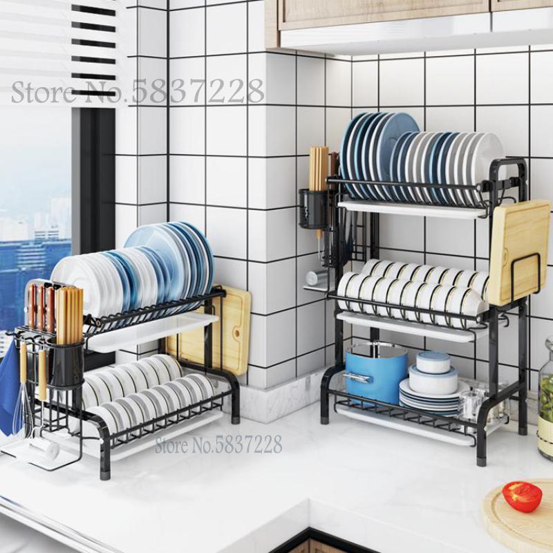 304 Нержавеющаясталь вешалка для шкафа, дренажная стойка, дренажная стойка, Кухня стеллаж для хранения, ванная комната, проветривания и поло...