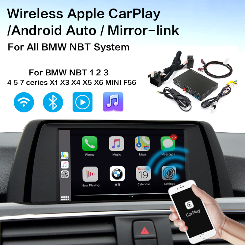 Wireless Carplay MMI Android auto interface box For BMW Series 3 F30 F31 F34 Series 4 F32 F33 F36 NBT MuItimedia IOS