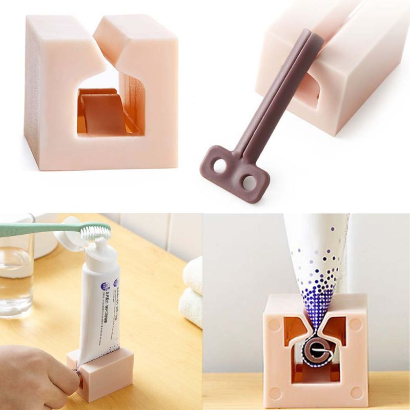 Multifunctional Bathroom Plastic Cream Rolling Tube Squeezing Dispenser Squeezer Tooth Paste Toothpaste Dispensers