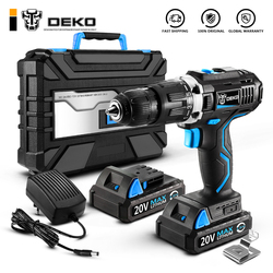 DEKO GCD20DU 20V Max Бытовая дрель для деревообработки, литий-ионный аккумулятор, беспроводная дрель, электроинструменты, электродрель