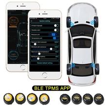Car Tire Pressure Sensor Bluetooth 4.0 5.0 Waterproof Universal Android iOS BLE TPMS External Alarm Tire Pressure Sensors
