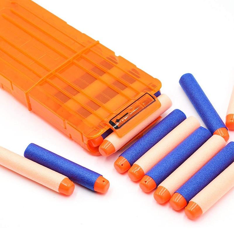 Soft 12 Orange Bullet Clips Gun Accessories Nerf Clip Reload Clip For Nerf Magazine Round Darts Blaster Gun Bullet Clip Toy Gun