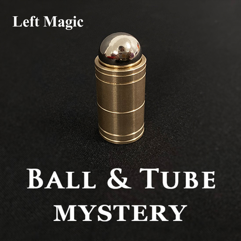 Ball & Tube Mystery (Brass) Close Up Magic Tricks Illusions Gimmick Fun Magic Balls Rises Falls Stage Magic Magician Toys