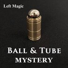 Ball & Tube Mystery (Brass) Close up Magic Tricks Illusions Gimmick Fun Magic Balls Rises Falls Stage Magic Magician Toys