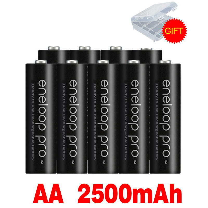 2020 nueva batería AA original 2500 MAH 1,2 V Ni-MH linterna Cámara juguete AA batería precargada + 1,2 V AA cargador