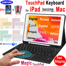 Magic Touchpad Toetsenbord Voor Ipad 10.2 Keyboard Case Voor Apple Ipad 9.7 2017 2018 Air 2 3 4 Pro 9.7 10.5 11 2018 2019 2020 8th