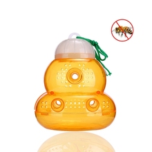 Effective And Reusable Bee Trap Catcher Outdoor Hanging Safe Natural Plastic Non-Toxic Honey Jar Catcher, Carton Pack