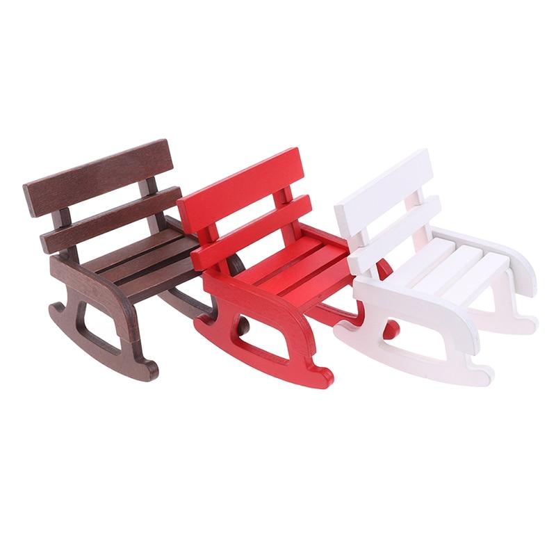 1:12 Dollhouse Miniature Wooden Rocking Chair Furniture Accessories TE