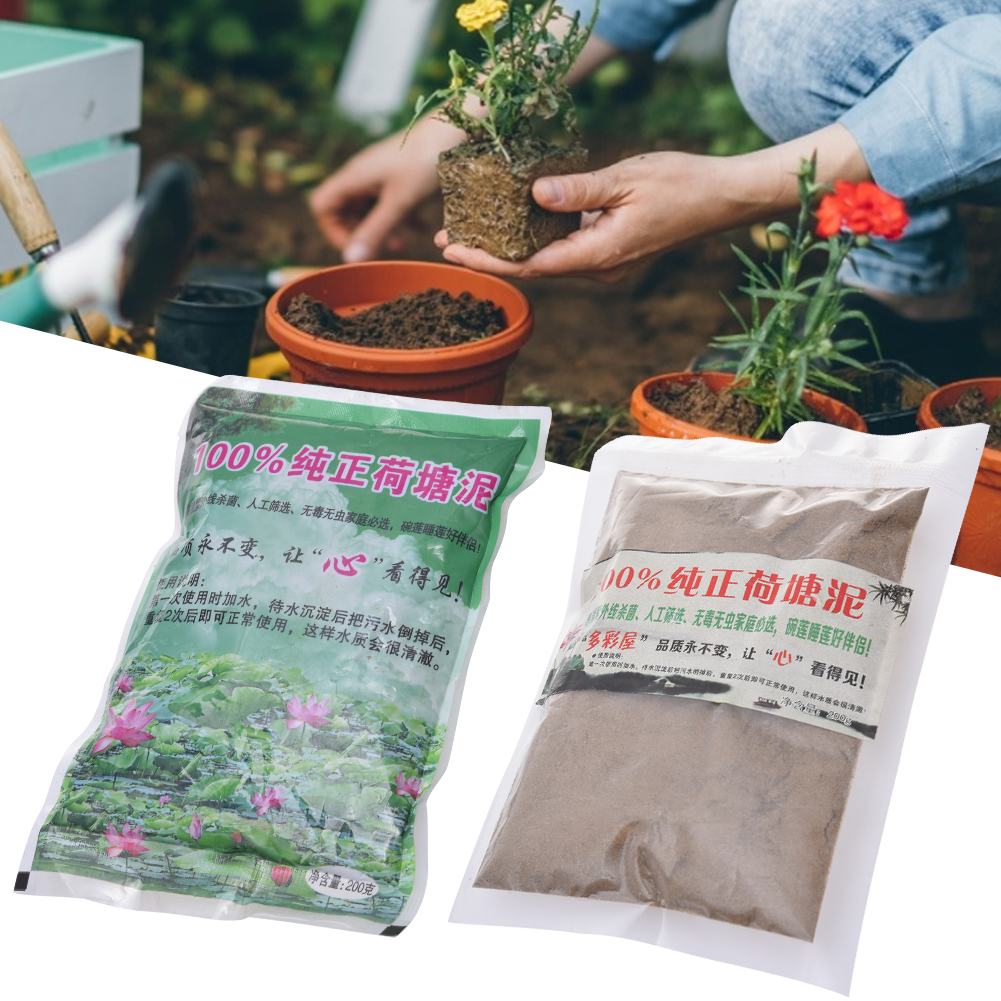 Aquatic Pond Soil Natural Lotus Pond Potting Soil Plant Growing Media Water Lily Slime Planting Aquatic Plant Seed Cultivation