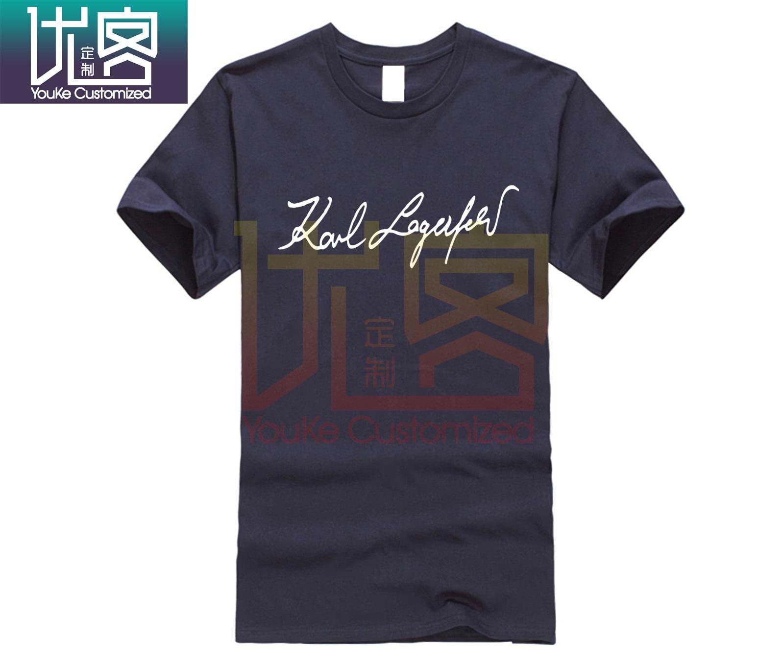 Casual O-neck Loose Summer T Shirt For Men KARL LAGERFELD SHIRT Top Men's T-shirt