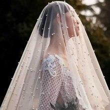 Один слой крышка уход за кожей лица Свадебные вуали для женщин