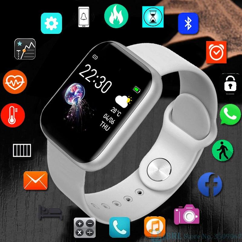 Full Touch Watch Children Kids Watches For Girls Boys Wrist Watch Child Bluetooth Clock  Students Electronic Digital Wristwatch