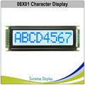 801 0801 wyświetlacz z modułem LCD 8X1 LCM z wbudowanym kontrolerem SPLC780D z białym podświetleniem