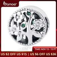 BAMOER mode 100% 925 argent Sterling arbre de vie perle breloques idéal pour bracelet femmes perles et fabrication de bijoux bricolage SCC115