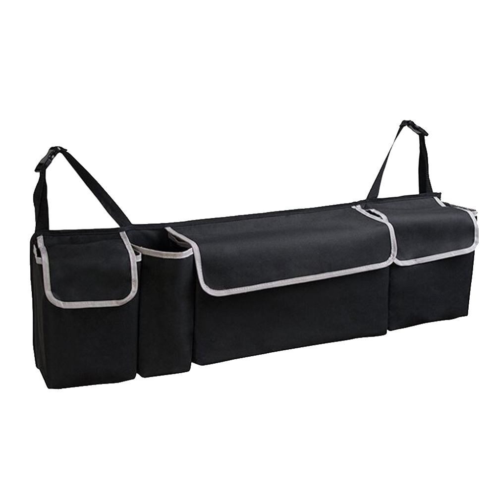 Tidy Storage Trunk Car-Boot-Organiser Oxford Foldable Universal 4-Pockets Hanging Waterproof