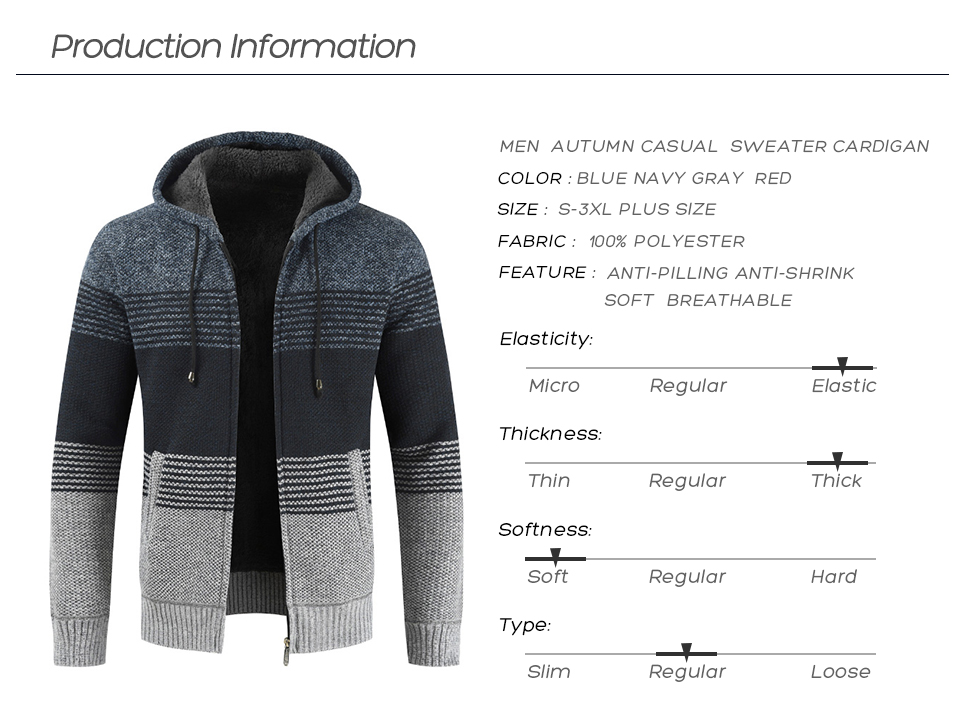 Thick Warm Hooded Cardigan Sweater 7