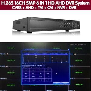 Image 5 - Gezicht 16 Kanaals Ahd Dvr 16CH 1080P 5MP 2592*11944 Digitale Video Audio Recorder Hybride Dvr Nvr Hvr 6 In 1 Alarm Security System