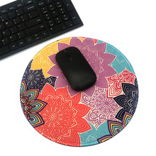 Round Mouse Pad Pattern series Mat Colorful flower / blue flower / maple leaf / rose Computer Peripherals Accessory daisy flower and blue sky round mouse pad