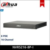 Dahua NVR DHI NVR5216 8P I 16Channel 1U 8PoE AI Network Video Recorder 1 8 PoE Ports support ePoE & EoC NVR5216 8P I