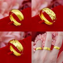 18k Золотое кольцо ювелирные изделия для женщин и мужчин свадьбы