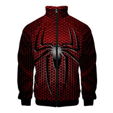 Spiderman 3D Cosplay Costume Print Stand Collar Hoodies Men Women Spider Man Sweatshirts Zip Tracksuits Plus Size Clothing(China)