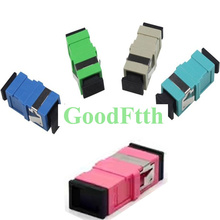 Fiber Adapter Adaptor Coupler SC-SC Simplex Reduced Flange Flangeless GoodFtth 100pcs/lot