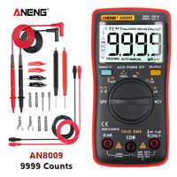 ANENG AN8009 True-RMS Multimetro Digitale transistor tester condensatore del tester automotive elettrico misuratore di capacità temp diodo