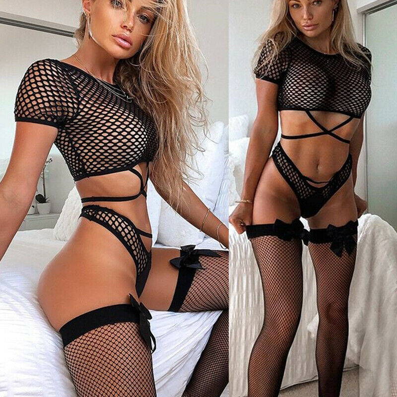S-XL Plus Size Erotic Babydoll Women Sexy Lingerie Corset Lace Push Up Top Bra Briefs Porno Langerie Sexy Underwear Costume Set