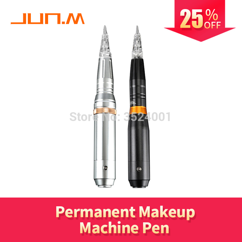 New ATT Silver/Black Tattoo Makeup Permanent Machine For Eyebrow Lips Eyeliner with 16 pcs Cartridge