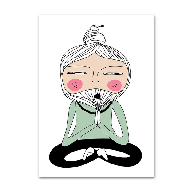 Canvas Nordic Posters Prints Lotus Yoga Pose Meditation Master Painting Wall Art Home Decoration Modular Pictures Living Room Painting Calligraphy Aliexpress